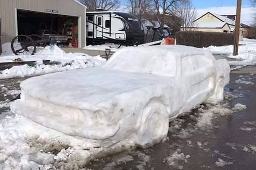 car out of snow