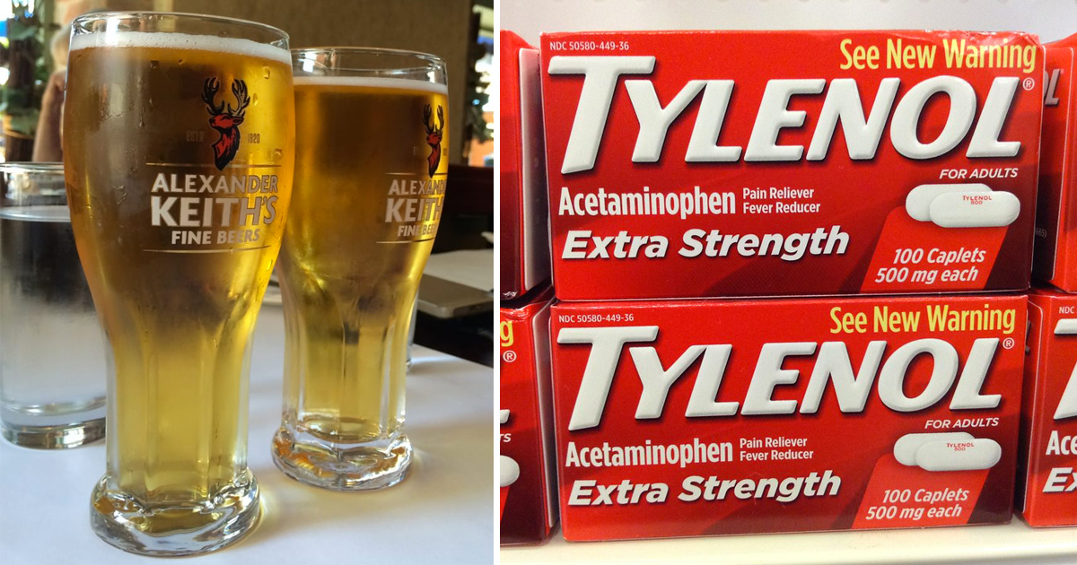 2 large beers are better painkillers than Tylenol, according to science