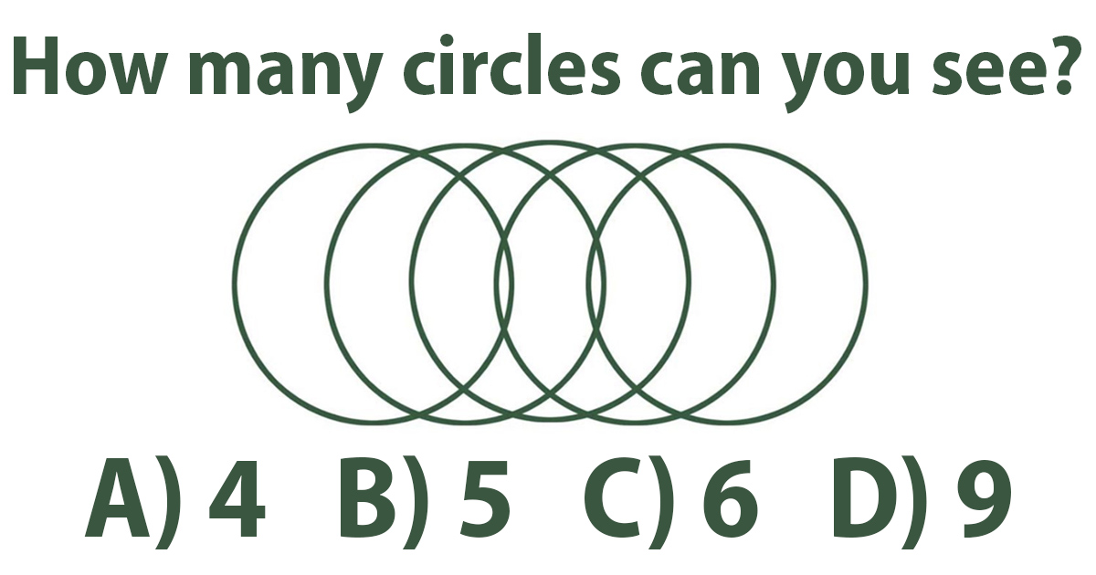 How many circles can you see?