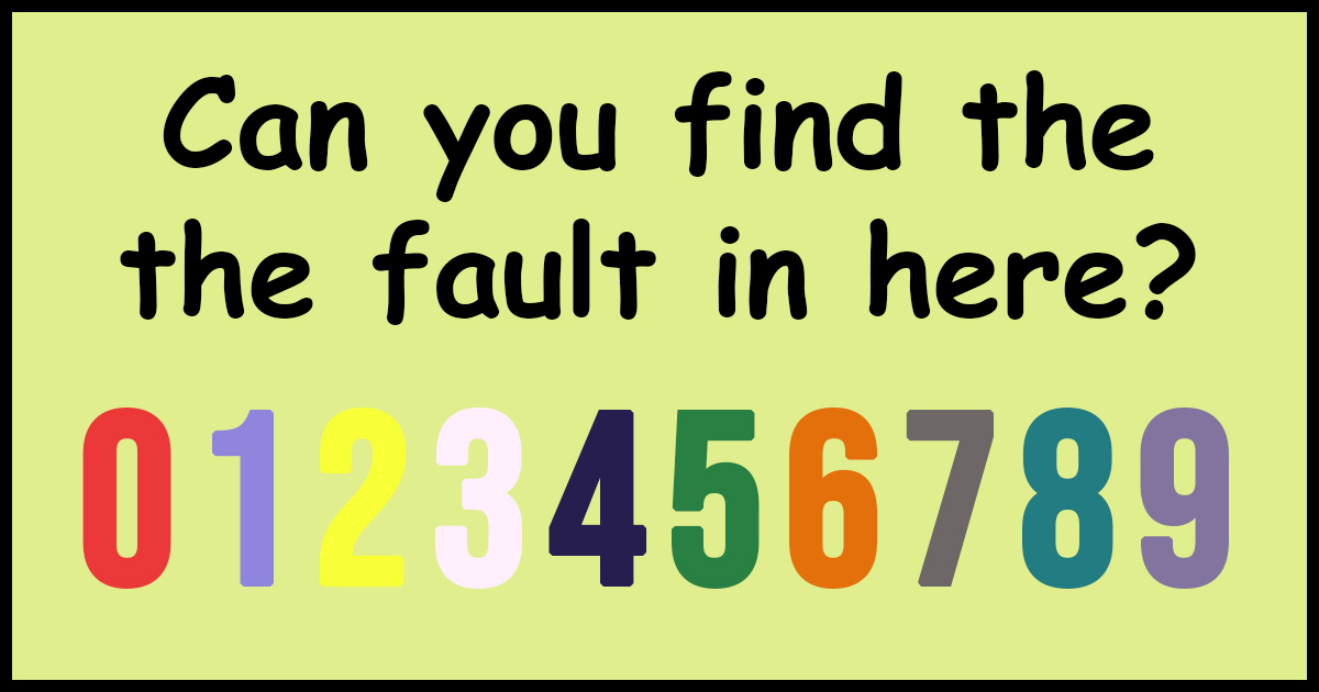 find the fault
