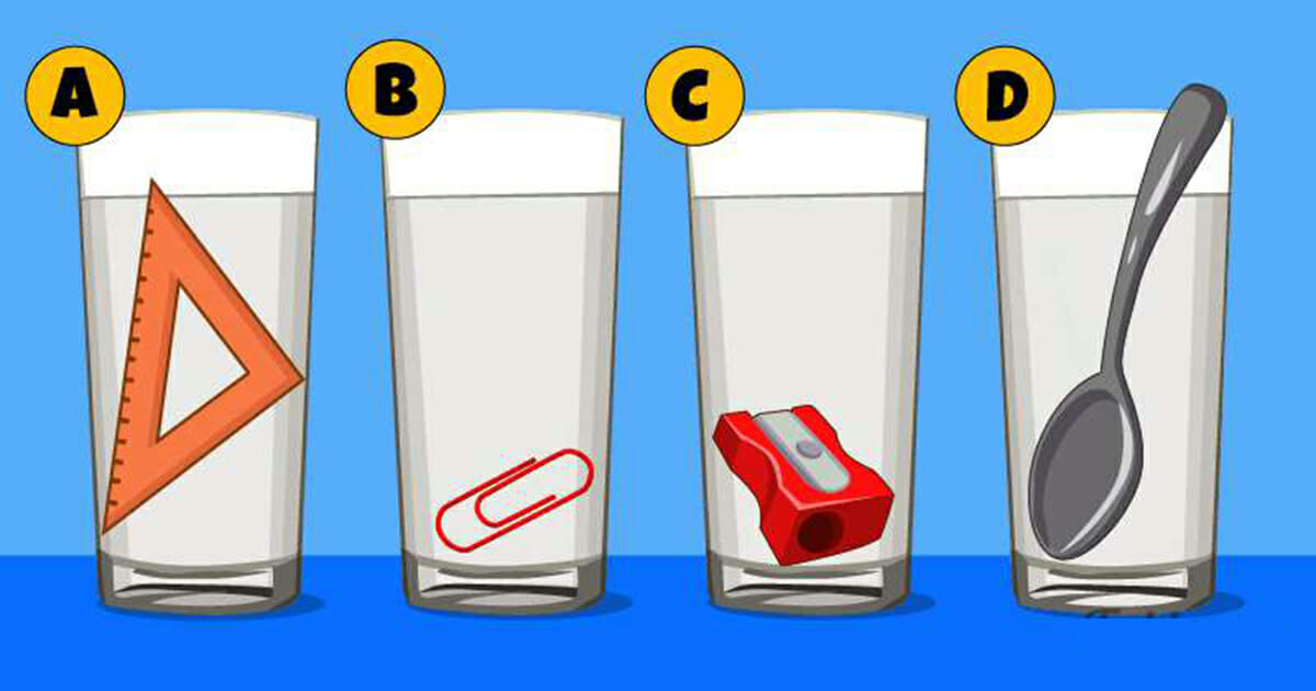 Which glass has more water?
