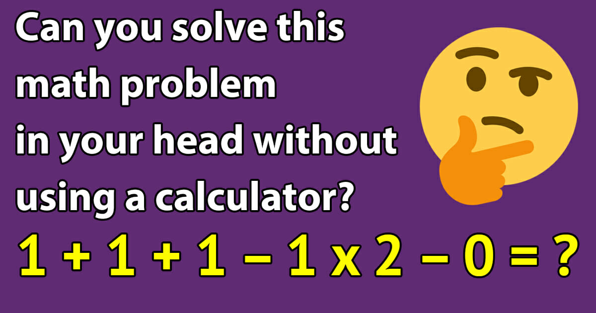 Mental calculation problem