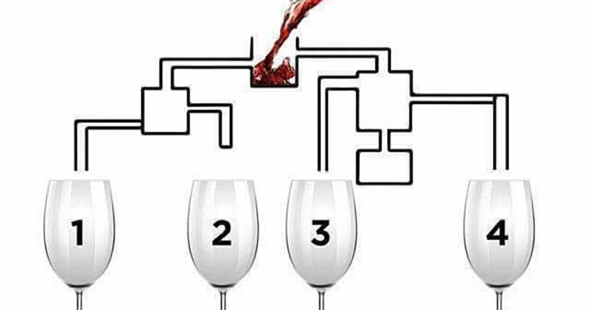 which glass will fill up first?