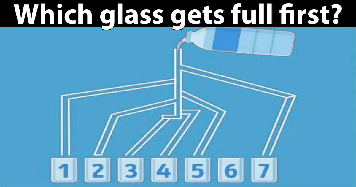 which glass gets full first?