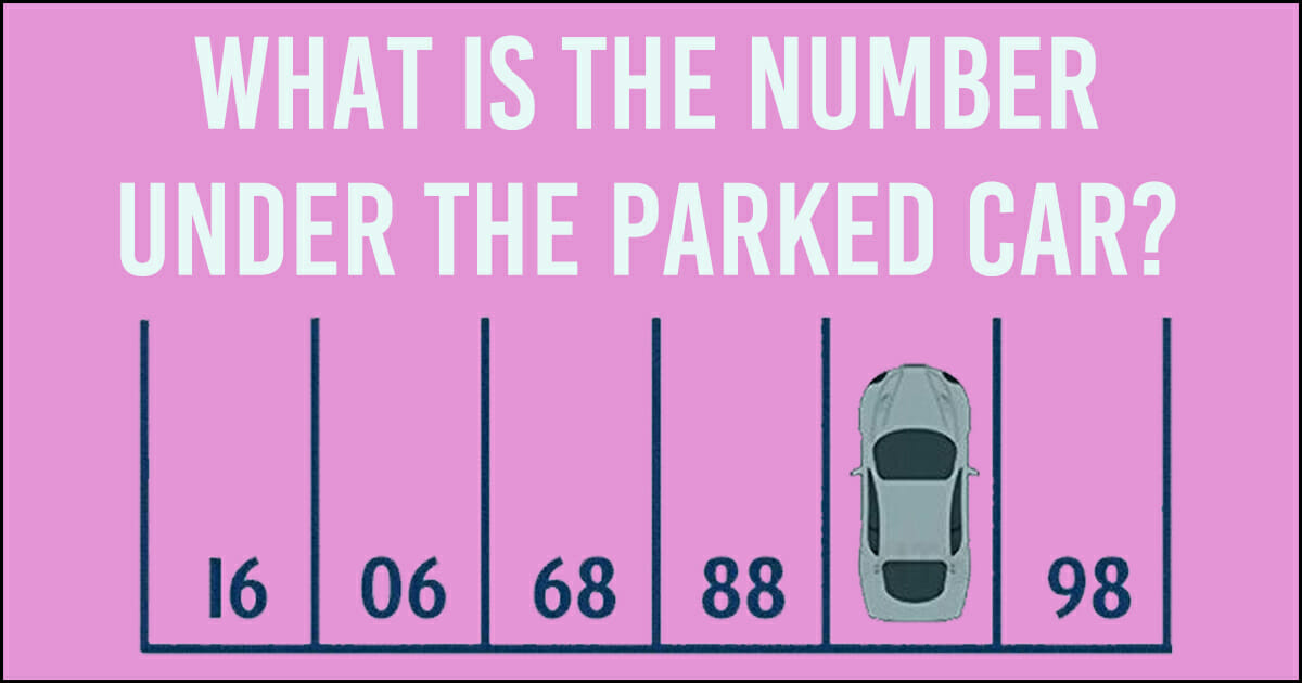 What is the number under the parked car?