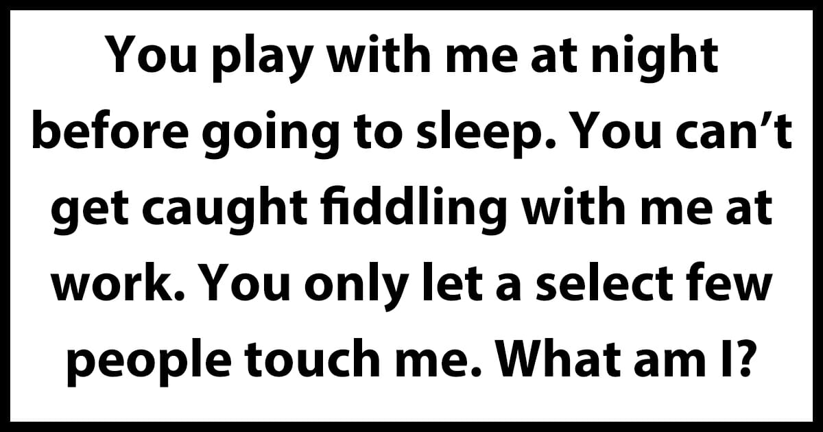 this riddle will make you blush
