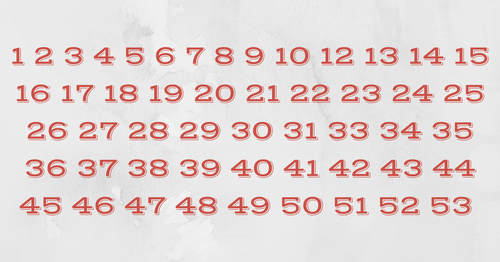 sequence of numbers